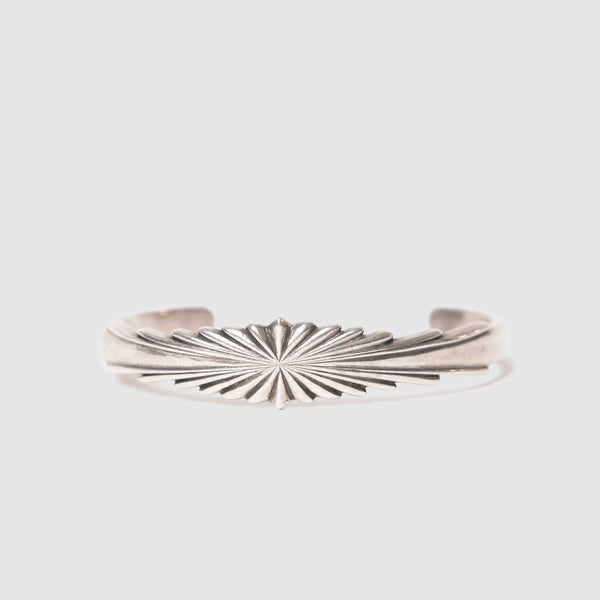 Sterling Silver Medium Sunburst Cuff