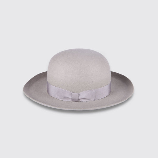 Open Crown Hat Grey