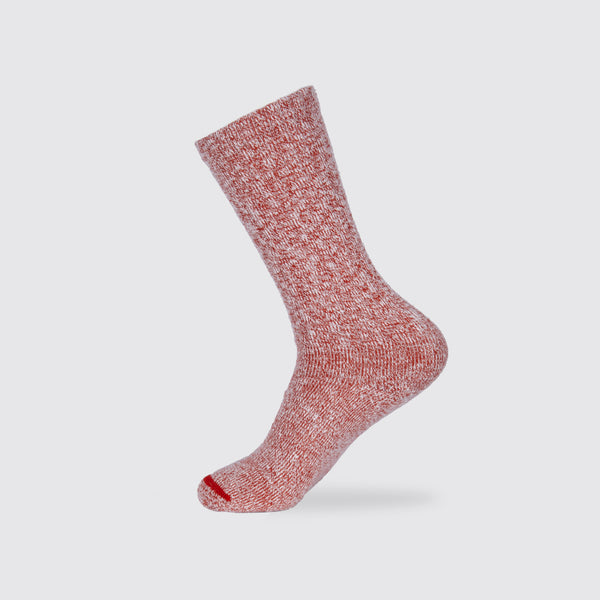 Women's Cotton Rag Sock Red