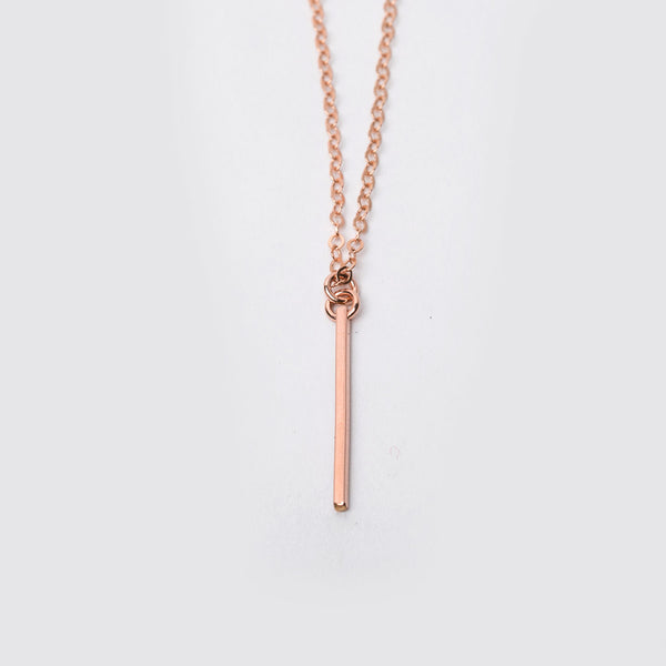 14K Rose Gold Fill Mini Bar Necklace