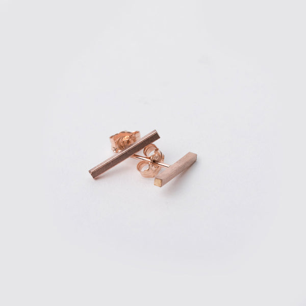 14K Rose Gold Fill Bar Studs