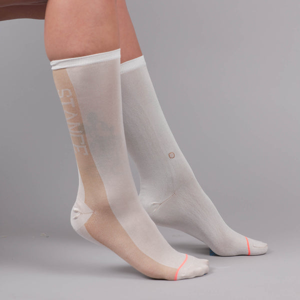 Women's Crew Sock Judge Me White