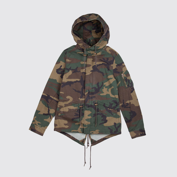 Swoop Fishtail Parka Woodland Camo