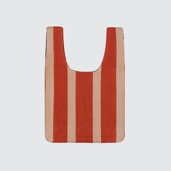 Vertical Stripe Shopper Bag