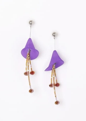 CALLA PURPLE / Earrings / Brown - TAM ILLI