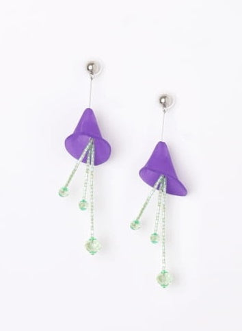 CALLA PURPLE / Earrings / Light Green - TAM ILLI