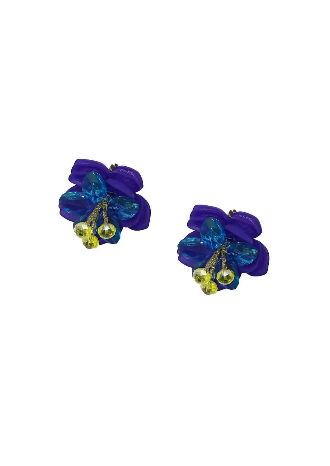 ROXANNE / Earrings / Blue - TAM ILLI