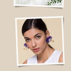 ROXANNE / Earrings / Purple - TAM ILLI