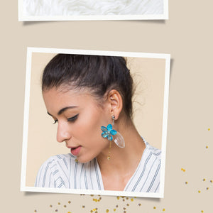 NYX / Earrings / Blue - TAM ILLI