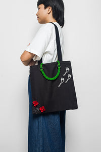 MOTE MOTE x TAM ILLI - Black Canvas Tote Bag - TAM ILLI