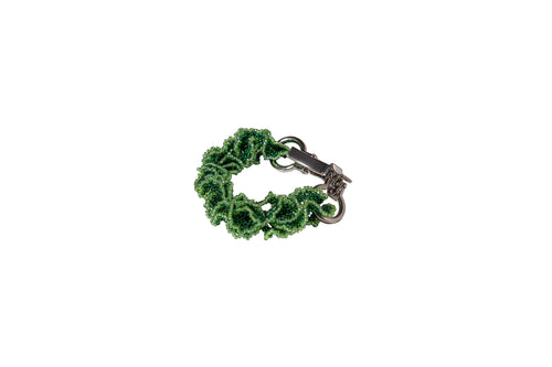 SILK Green - Beaded Strap / Bracelet