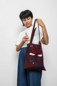MOTE MOTE x TAM ILLI - Red Canvas Tote Bag - TAM ILLI