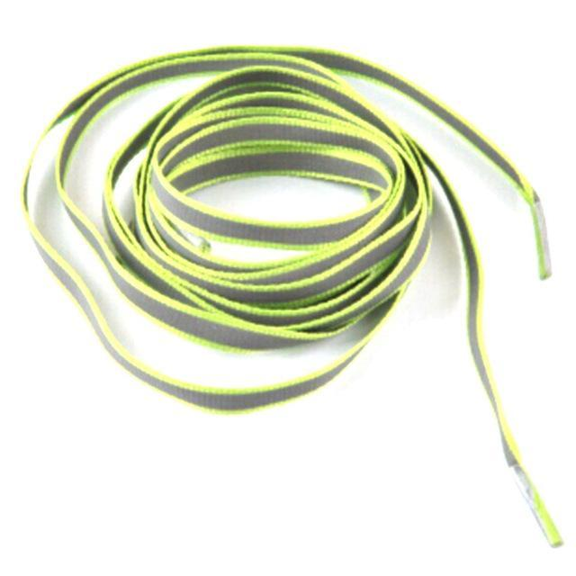 1 Pair 100Cm Flat 3M Reflective Runner Shoe Laces Safety Luminous Glowing Shoelaces Unisex For Sport-Shoe Accessories-Titi Kaka-Green-EpicWorldStore.com