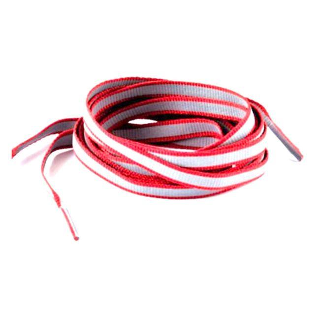 1 Pair 100Cm Flat 3M Reflective Runner Shoe Laces Safety Luminous Glowing Shoelaces Unisex For Sport-Shoe Accessories-Titi Kaka-Red-EpicWorldStore.com