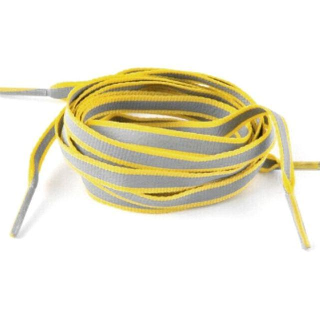 1 Pair 100Cm Flat 3M Reflective Runner Shoe Laces Safety Luminous Glowing Shoelaces Unisex For Sport-Shoe Accessories-Titi Kaka-Yellow-EpicWorldStore.com