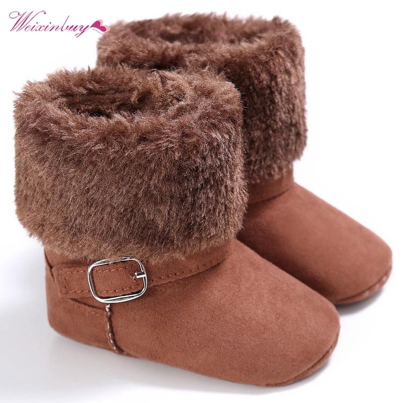 9599fc72654e8 1 Pair Super Warm Infant Soft Bottom Snow Boots Baby Boys Girls Winter  Shoes Baby Prewalker