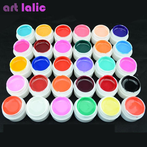1 Pc 4Ml High Quality Pure Colors Uv Gel Nail Manicure For Led Uv Lamp Gel Solid Color Nail Art-Nails & Tools-Artlalic Store-White111-EpicWorldStore.com