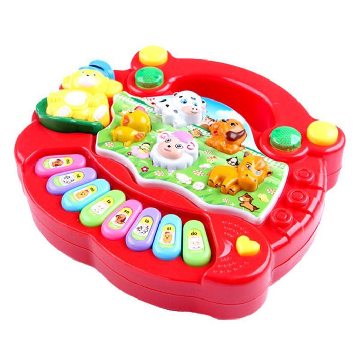 1 Pc Baby Musical Toys Educational Animal Farm Piano Developing Musical  Toys With Animal Sound