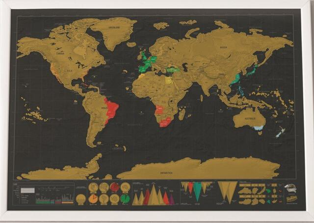 scratch off map of the world
