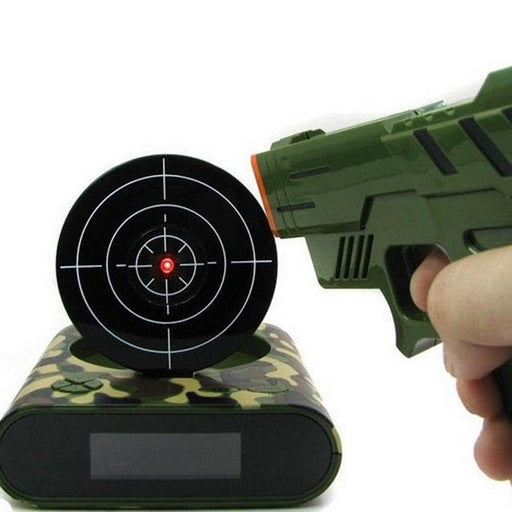 1 Set Gun Alarm Clock Shoot Alarm Clock Recordable Gadget Target Desktop Digital Bedside Snooze-Alarm Clocks-Homey Life Store-White-EpicWorldStore.com