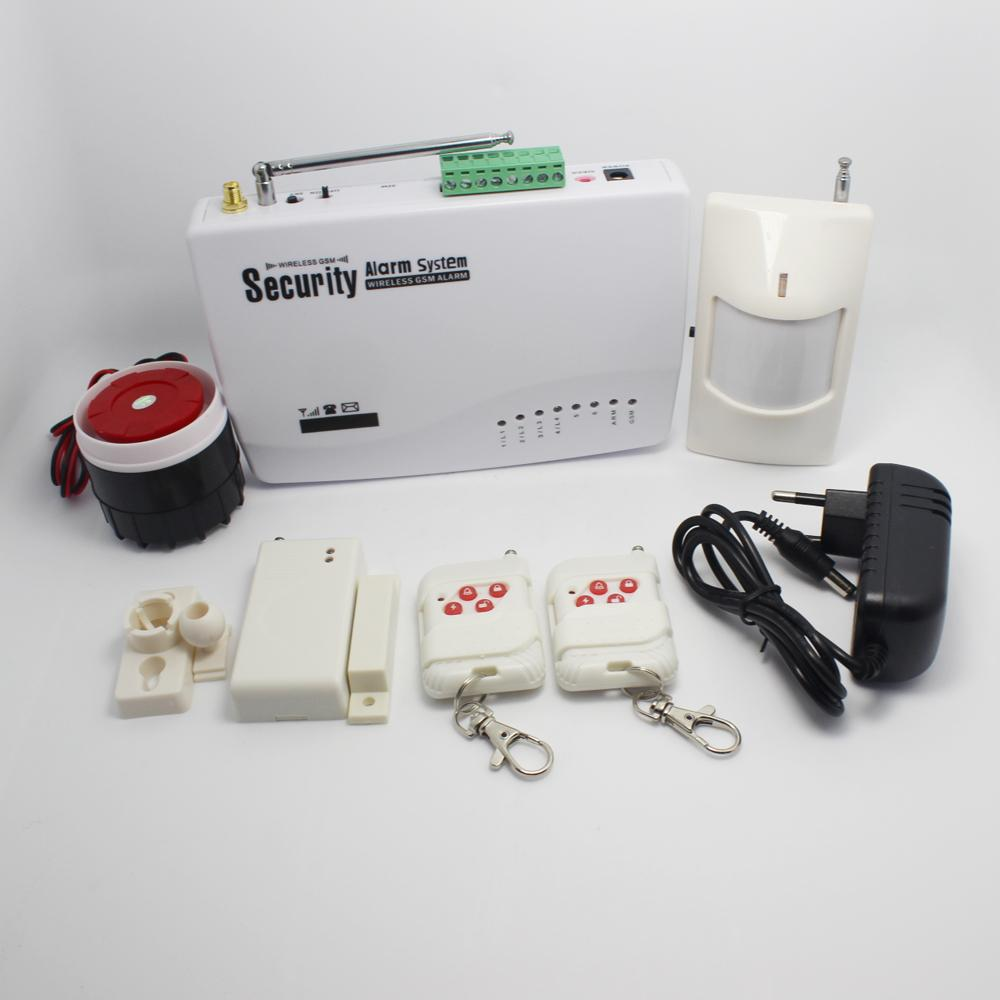 1 Set Home Security 6 Wireless Zone And 4 Wire Sms Gsm Alarm Panic Button Wiring Sy