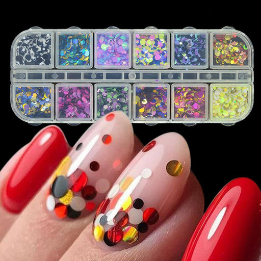 1 Set Mixed Color 3D Ultrathin Sequins Nail Glitter Flakes 1/2/3Mm Sparkly Diy Tips Dazzling-Nails & Tools-Tracy Nail art & Make Up Beauty-EpicWorldStore.com