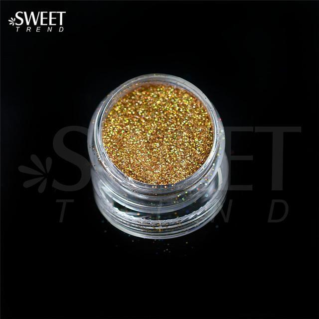 1 X 3G Jar Shiny Laser Holographic Nail Glitter Dust Powder For Nail Art Diy Uv Gel Polish Nail-Nails & Tools-SWEETTREND nail art Store-L01-EpicWorldStore.com