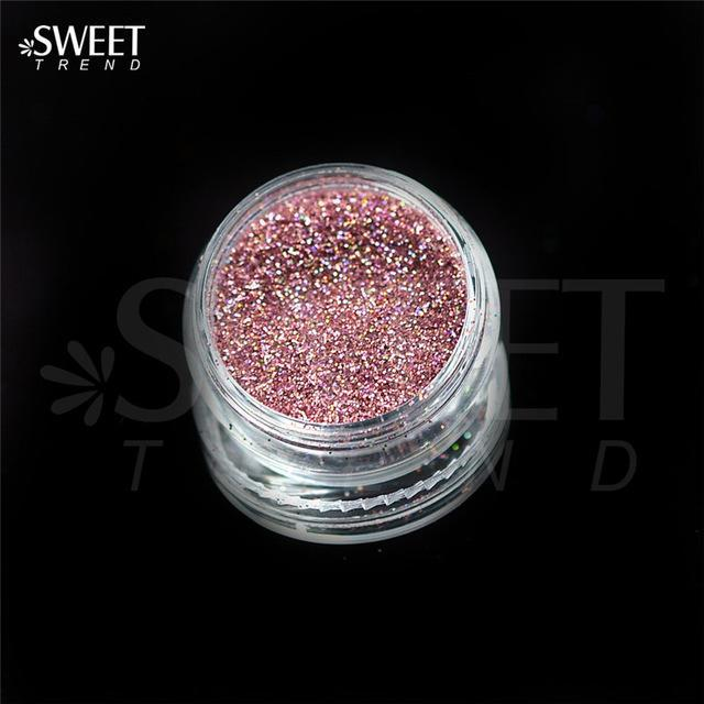 1 X 3G Jar Shiny Laser Holographic Nail Glitter Dust Powder For Nail Art Diy Uv Gel Polish Nail-Nails & Tools-SWEETTREND nail art Store-L02-EpicWorldStore.com