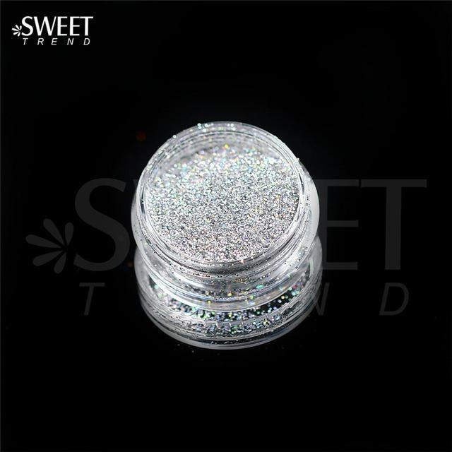 1 X 3G Jar Shiny Laser Holographic Nail Glitter Dust Powder For Nail Art Diy Uv Gel Polish Nail-Nails & Tools-SWEETTREND nail art Store-L03-EpicWorldStore.com