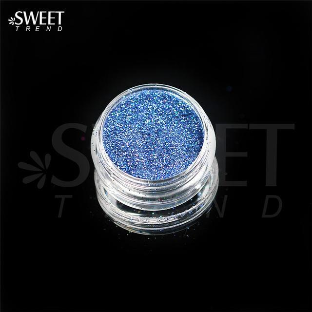 1 X 3G Jar Shiny Laser Holographic Nail Glitter Dust Powder For Nail Art Diy Uv Gel Polish Nail-Nails & Tools-SWEETTREND nail art Store-L10-EpicWorldStore.com