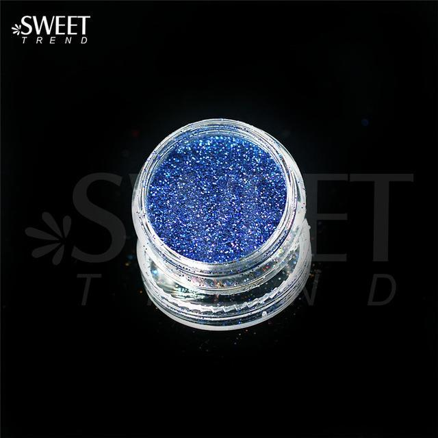 1 X 3G Jar Shiny Laser Holographic Nail Glitter Dust Powder For Nail Art Diy Uv Gel Polish Nail-Nails & Tools-SWEETTREND nail art Store-L11-EpicWorldStore.com