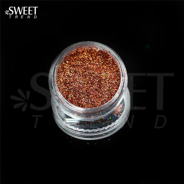 1 X 3G Jar Shiny Laser Holographic Nail Glitter Dust Powder For Nail Art Diy Uv Gel Polish Nail-Nails & Tools-SWEETTREND nail art Store-L12-EpicWorldStore.com