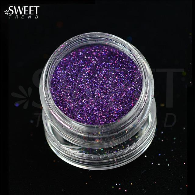 1 X 3G Jar Shiny Laser Holographic Nail Glitter Dust Powder For Nail Art Diy Uv Gel Polish Nail-Nails & Tools-SWEETTREND nail art Store-L14-EpicWorldStore.com