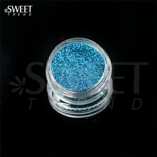 1 X 3G Jar Shiny Laser Holographic Nail Glitter Dust Powder For Nail Art Diy Uv Gel Polish Nail-Nails & Tools-SWEETTREND nail art Store-L16-EpicWorldStore.com
