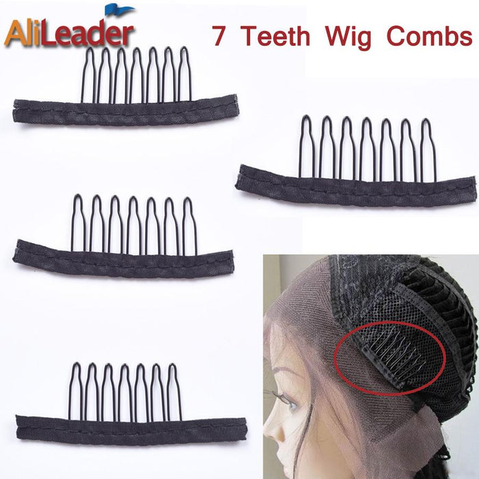 Hair Extensions & Wigs Humor 10-100pcs Useful Wigs Cap Accessories Hair Clips For Weaves Wig Combs Clips For Lace Hair 7 Thooth Convenient For Your Wig Caps Clips