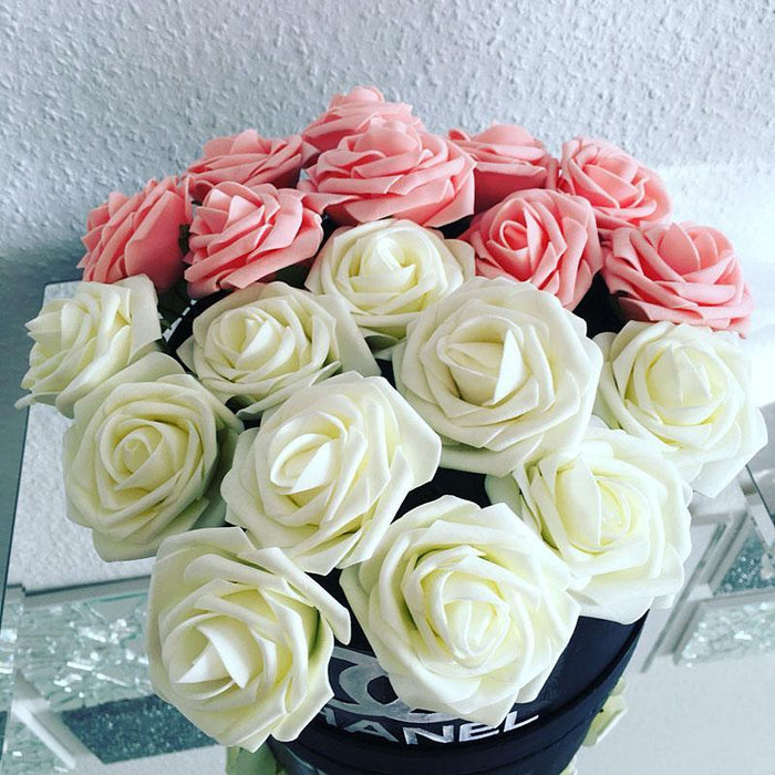10 pieces pack 8cm home decorative flowers 11 colors pe foam 10 pieces pack 8cm home decorative flowers 11 colors pe foam artificial rose flowers for junglespirit Image collections