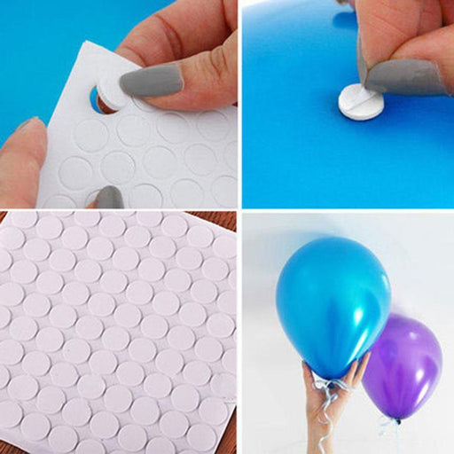 100 Points Balloon Attachment Glue Dot Attach Balloons To Ceiling Or Wall Balloon Stickers-Festive & Party Supplies-Party Balloons NO1-EpicWorldStore.com