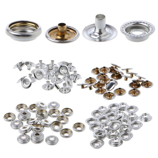 100Pc Marine Boat Canvas Stainless Steel Fastener Snap Press Stud Cap Button Marine Hardware Boat-ATV,RV,Boat & Other Vehicle-Barbiezhou Car & Motorcycle Replacement Store-EpicWorldStore.com
