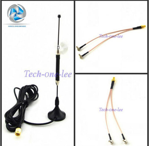 10Dbi 4G Antenna Sma Plug 696-960Mhz / 1710-2690Mhz Long Range Rg174 3M+ Sma Female To Y Type 2 X-Communication Equipments-onelinkmore AntennaMan Store-EpicWorldStore.com