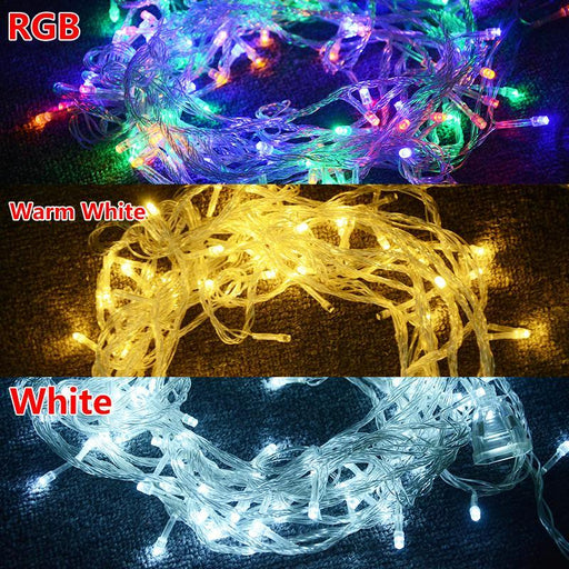 10M Rgb Led String Light Christmas Lights Indoor Outdoor Xmas Tree Decoration 100 Leds Waterproof-Holiday Lighting-ATcomm Official Store-RGB-220V EU Plug-EpicWorldStore.com