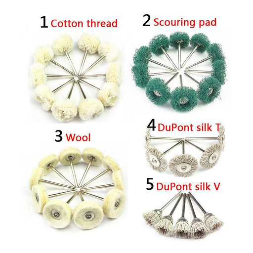 10Pcs Polishing Wheel Buffing Pad Brush Jewelry Metal Micro-Electronic Dremel Accessories For Rotary-Abrasive Tools-PAN Trading Co,.Ltd-No1 Cotton thread-EpicWorldStore.com