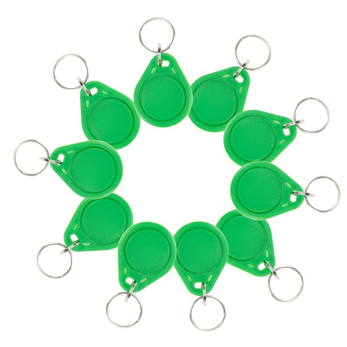 10Pcs Rfid Abs Smart Tags Green Keyfobs 13.56 Mhz Ic Keychains Nfc Tags  Iso14443A Mf Classic Reg 8a872b30b