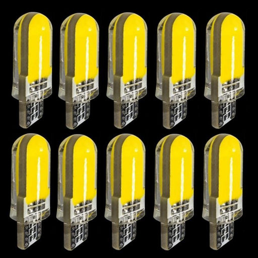 10Pcs T10 194 2825 Wy5W W5W Cob Led Silica Gel Waterproof Wedge Light 501 Silicone Shell Car Reading-Car Lights-Long light electric co., LTD-White-EpicWorldStore.com