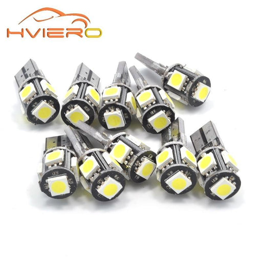 10Pcs T10 Canbus White Blue Red 5Smd 5050 Led Car Light W5W 194 168 Error Bulbs Dc 12V Wedge Lamp-Car Lights-HVIERO Official Store-Blue-EpicWorldStore.com