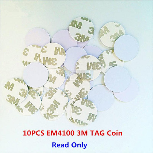 10Pcs/Lot 125Khz Em4100 Tk4100 3M Adhesive Coin Tag Rfid Card 20/25Mm Read Only Access Control Card-Binling Gooding-EpicWorldStore.com