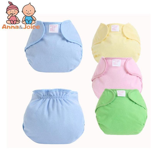 10Pcs/Lot 4 Colors Reusable Baby Infant Nappy Cloth Diapers Soft Cotton Solid Color Baby Nappy-Toilet Training-Ningbo Chenfa trade co., LTD-EpicWorldStore.com