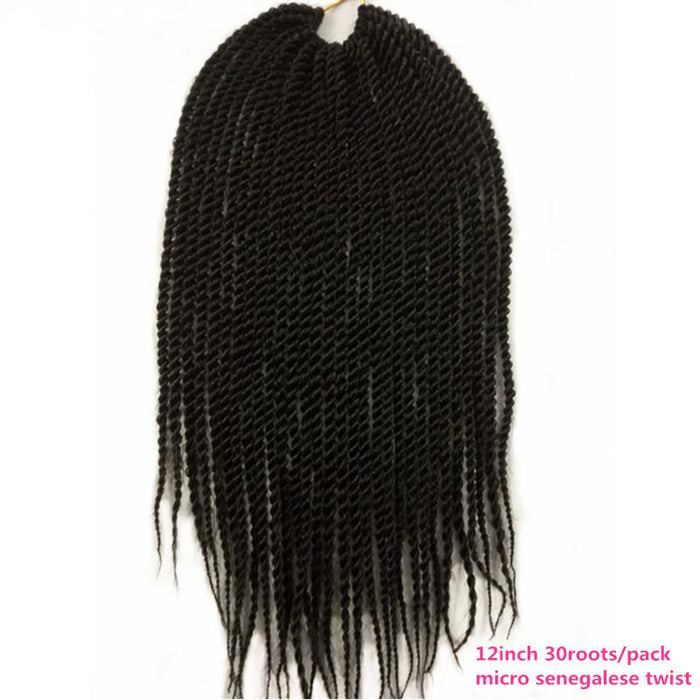 12 18inch 5pack Pervado Hair Micro Small Senegalese Twist Crochet