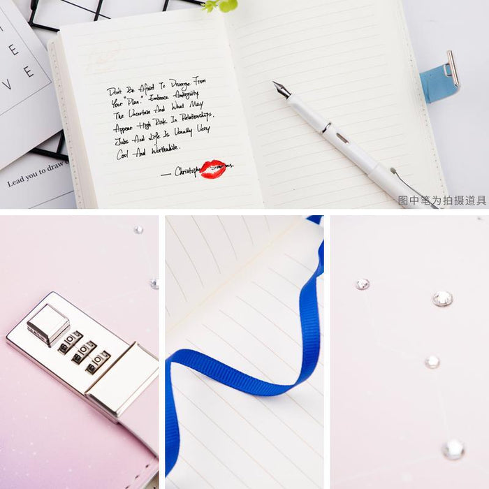 12 Constellation B6 Notebook With Lock Password Student Diary Lockable Writing Pads School Office-Best goods for best you-Libra-EpicWorldStore.com