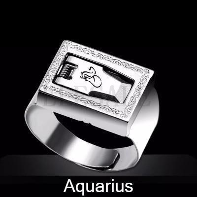 12 Constellation Stainless Steel Self Defense Tactical Ring Emergency Safety Tools Outdoor Hidden-Self Defense Supplies-SaleAdWords, AdWords 2018, ApparelELESALE Store-Aquarius-EpicWorldStore.com