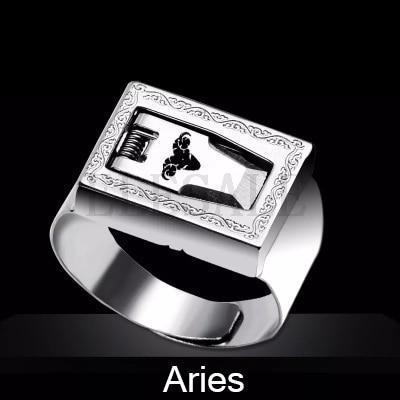 12 Constellation Stainless Steel Self Defense Tactical Ring Emergency Safety Tools Outdoor Hidden-Self Defense Supplies-SaleAdWords, AdWords 2018, ApparelELESALE Store-Aries-EpicWorldStore.com